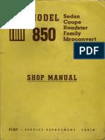 Fiat 850 Shop Manual