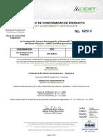 TECNA SA Certificado Retie No. 02513 con anexos ACCESORIOS NEMA 4 act2019