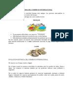 HISTORIA DEL COMERCIO INTERNACIONAL