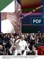Vinicio y el abrazo del Papa