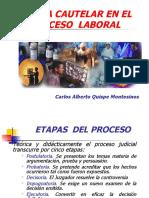 TUTELA CAUTELAR EN EL PROCESO LABORAL - Carlos Alberto Quispe Montesinos.pps