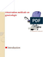 Sémiologie et Observation médicale en gynécologie