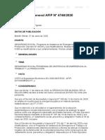 Rg 4746-2020 SEGURIDAD SOCIAL. Programa de Asistencia de Emergencia PAETyP