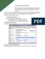 instalando un servidor en sql 2005