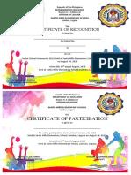 Intrams certificate