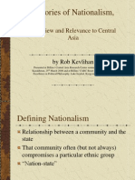 Theories of Nationalism Overview and Relevance to Central Asia