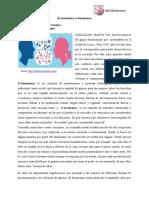 Articulo de Opinion El Machismo vs El Feminismo
