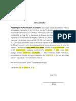 Declaração Uso e Porte de Armas (minuta)