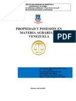 MARLON MAYA-PROPIEDAD Y POSESION EN MATERIA AGRARIA EN VENEZUELA