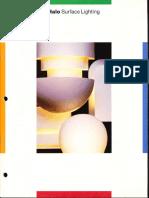 Halo Lighting Surface Lighting Catalog 1986