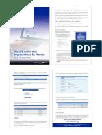 Diptico devolución IR por internet 2020