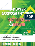 Free Npower Past Questions and Answers PDF Download