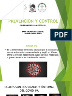 PREVENCCION Y CONTROL COVID 19
