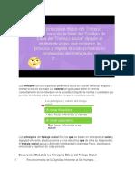 principios y valores de TRSO