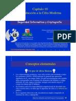 Seguridad Informática y Criptografía. Introducción a la Cifra Moderna