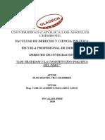ENSAYO LOS TRATADOS Y LA CONSTITUCION- VILCA