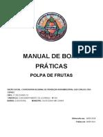 Manual de Boas Práticas Polpa frutas