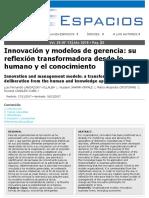 4. INNOVACIÓN Y MODELOS DE GERENCIA