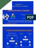 Seguridad Informática y Criptografía. Cifrado Simétrico en Bloque