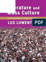 LOWENTHAL, Leo. Literature and Mass Culture