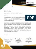 carta para solicitud cruz roja