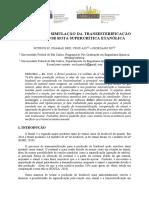 Modelagem e Simulação da Transesterificação do Biodiesel por Rota Supercrítica Etanólica
