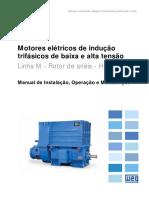 WEG Motores de Inducao Trifasicos de Baixa e Alta Tensao Rotor de Aneis 11066443 Manual Portugues Br Dc