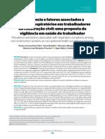 Prevalência e Fatores Associados a Sintomas Respiratórios Em Trabalhadores Da Construção Civil