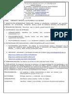 taller Español y  Compresión Lectora   1 semana Tercer Periodo
