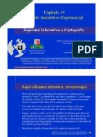 Seguridad Informática y Criptografía. Cifrado Asimétrico Exponencial