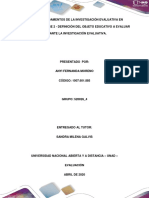 Fase 2 - Definición del objeto educativo a evaluar mediante la investigación evaluativa_AnyiFernandaMoreno