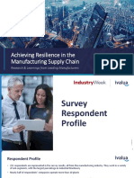 Achieving Resilience in the Manufacturing supply chain