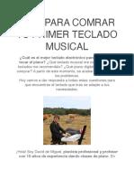GUÍA PARA COMRAR TU PRIMER TECLADO MUSICAL - David de Miguel