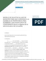 CARTA MODELO SOLICITUD ASAMBLEA ANTE JUEZ