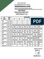 Jadwal Pengawas PTS II