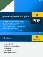 APRESENTAÇÃO DA DISCIPLINA_PORTOS E HIDROVIAS_20190829091208