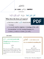 Sarf level 2_4-letter verb_Chapter 1_what This Form Expresses