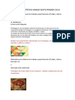 TALLERES DE ARTÍSTICA GRADO SEXTO PRIMER CICLO