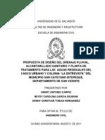 Propuesta de Diseño Del Drenaje Pluvial, Alcantarillado Sanitario y Planta de Tratamiento Para Las Aguas Residuales Del Casco Urbano y Colonia La Entrevista