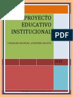 Proyecto Educativo Institucional COLEGIO MANUEL ANTONIO MATTA