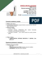 Curriculum Deheza Micaela Soledad
