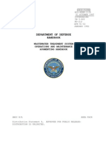 Department of Defense Waste Water Treatment System Operations and Maintenance