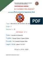 SEGUNDO TRABAJO DE MECANICA DE SUELOS I