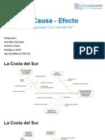DIAGRAMAS CAUSA-EFECTO - EQUIPO 2 (La Costa del Sur).pptx