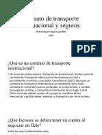 contrato de transporte internacional y seguros miguel