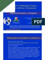 Seguridad Informática y Criptografía. Tablas, Software y Documentos