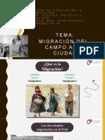14 -  MIGRACIÓN DEL CAMPO A LA CIUDAD, CAMBIO DE VALORES E IDENTIDAD NACIONAL