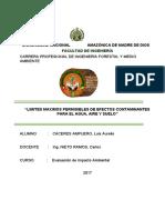 LIMITES MAX. PERM. EN EL PERU