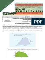 7° MATH GUIA DE VERIFICACIÓN #3  2P-CURRICULO FLEXIBLE CCAV 2020