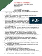 15  AUDITORÍA DEL PROCESO DE TESORERÍA
